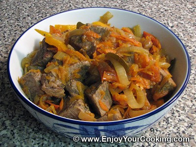 Beef Stew with Carrots and Bell Pepper