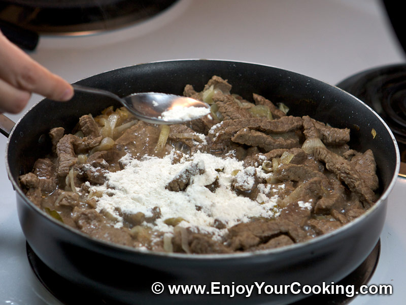 ... beef stroganoff iii recipe and fry the beef strips photo by mjt beef