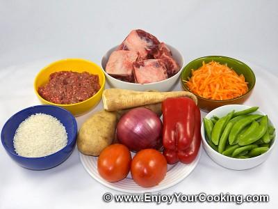 Meatballs Soup Recipe: Step 1