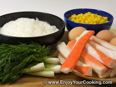 Crab Sticks & Rice Salad Recipe: Step 1
