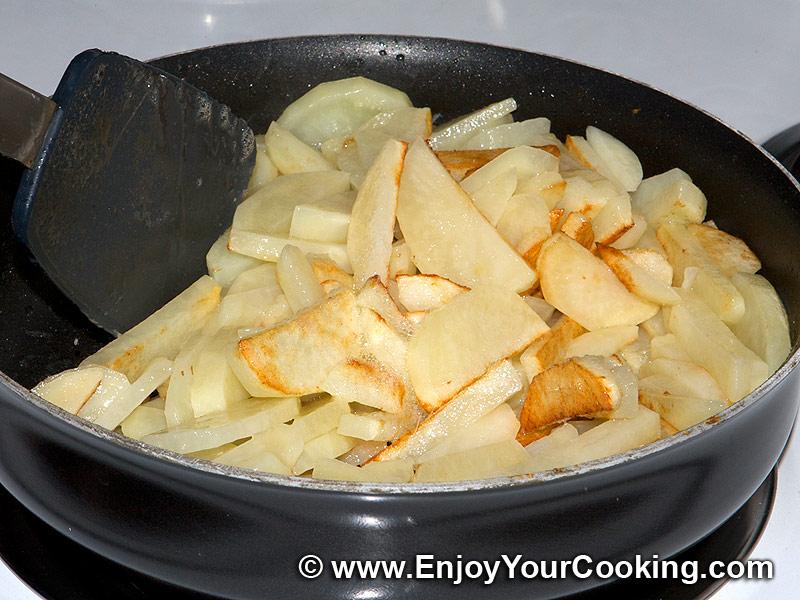 Жареная картошка с сыром на сковороде пошаговый рецепт