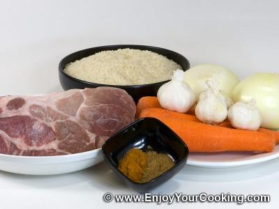 Pork Pilaf Recipe: Step 1