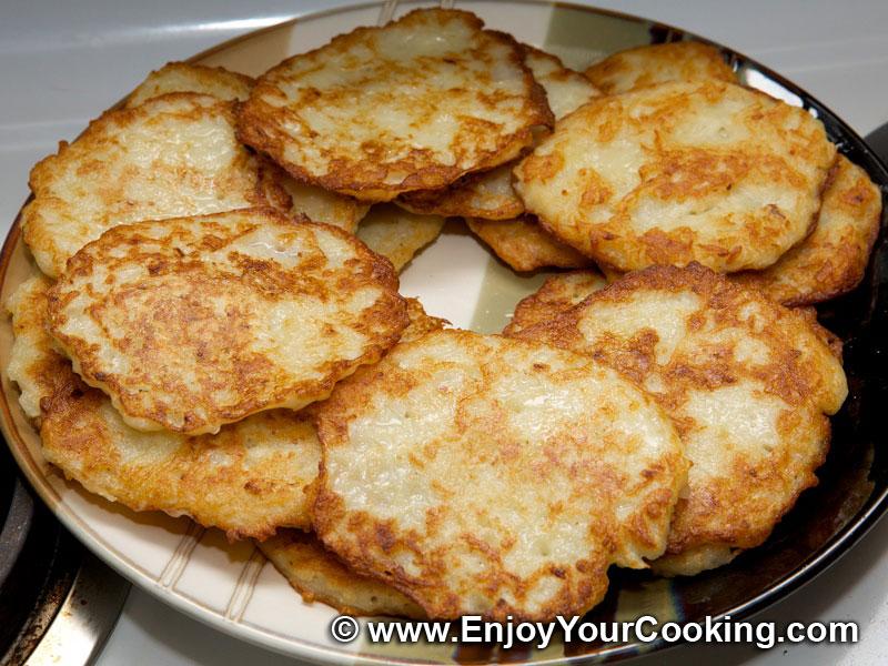 ... potato pancakes recipe step 7 stack prepared potato pancakes on the