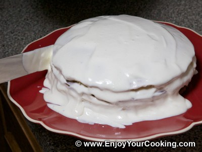 Simple Cake with Sour Cream Frosting Recipe: Step 30