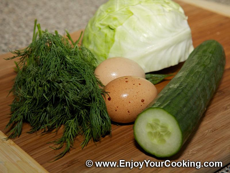 Салат огурец яйцо