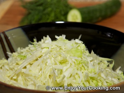 Cabbage and Cucumber Salad Recipe: Step 2