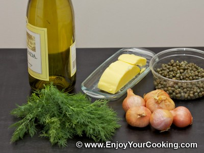 Wine, Butter and Capers Sauce for Fish Photo: Step 1