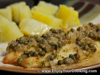 Wine, Butter and Capers Sauce for Fish Recipe: Step 11