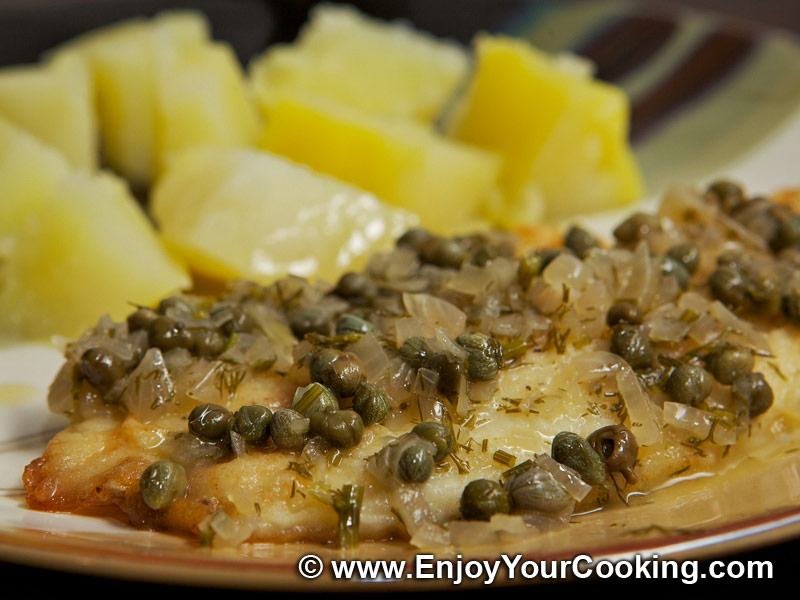 Halibut With Lemon, Butter, Caper And Dill Sauce Recipes — Dishmaps