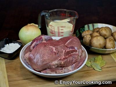 Beef Stroganoff with Mushrooms and Cream Recipe: Step 1