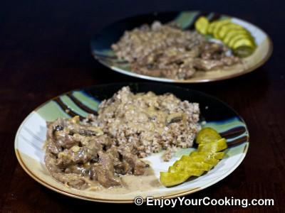 Beef Stroganoff with Mushrooms and Cream Recipe: Step 13