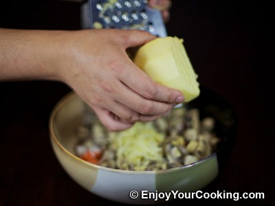 Crab Sticks Salad with Pickled Mushrooms and Apple Recipe: Step 4