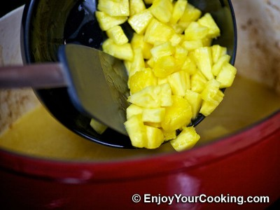 Chicken Roast with Pineapples, Bananas and White Wine Sauce Recipe: Step 12