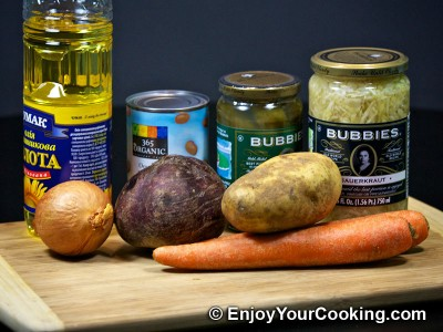 Russian Vinaigrette Salad (Salad Vinegret) Recipe: Step 1