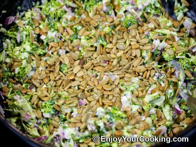 Fresh Broccoli Salad with Raisins and Sunflower Seeds Recipe: Step 10