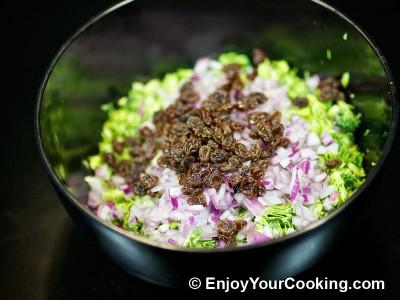 Fresh Broccoli Salad with Raisins and Sunflower Seeds Recipe: Step 5