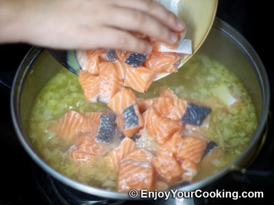 Salmon and Potato Chowder with Cream Recipe: Step 6