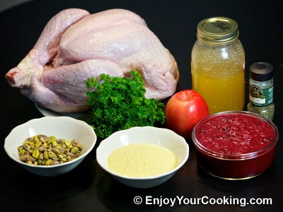 Whole Roast Turkey with Couscous Stuffing Recipe: Step 1