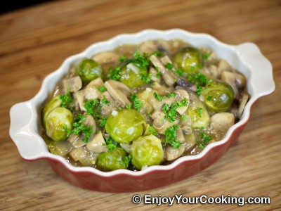 Brussel Sprouts with Mushrooms and Onions Recipe: Step 12
