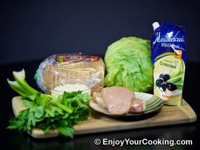 Chicken and Celery Salad Sandwich Recipe: Step 1