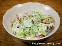 Lettuce, Tomato and Cucumber Salad Recipe