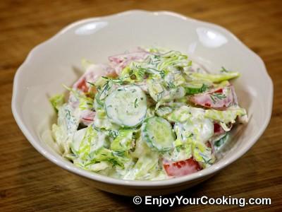 Lettuce, Tomato and Cucumber Salad Recipe