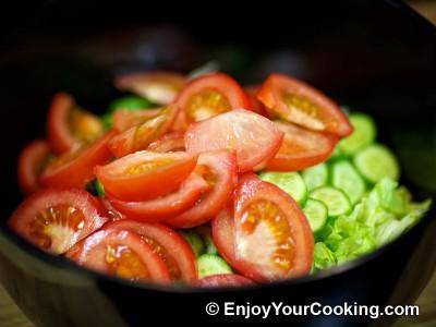Lettuce, Tomato and Cucumber Salad Recipe: Step 4