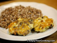 Chicken Cutlets with Mushroom and Cheese Recipe