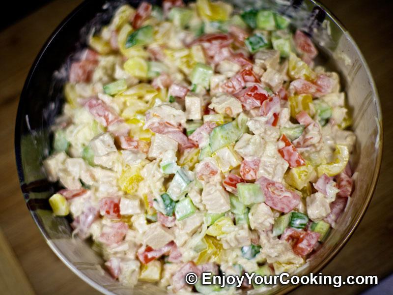 салаты из курицы с фотографиями и рецептами
