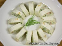Tortilla Rolls with Crab Sticks and Cheese Recipe