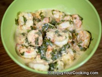 Shrimps in Sour Cream Sauce Recipe