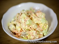 Chicken Salad with Cucumbers and Korean Style Carrots Recipe