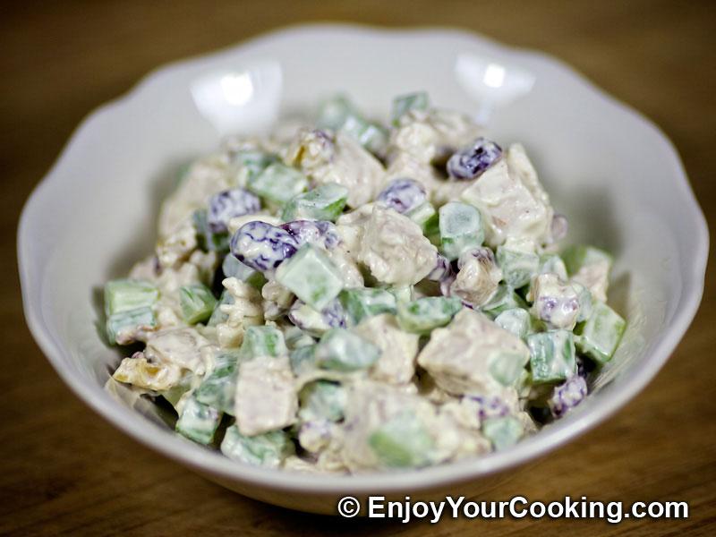 Walnut Cranberry Chicken Salad Recipe | My Homemade Food Recipes ...