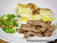 Recipe for Fried Meat with Mustard and Eggs