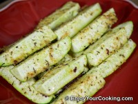 "Zucchini ""Fries"" with Parmesan and Spices Recipe"