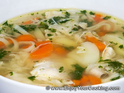 Chicken Soup with Egg Linguine