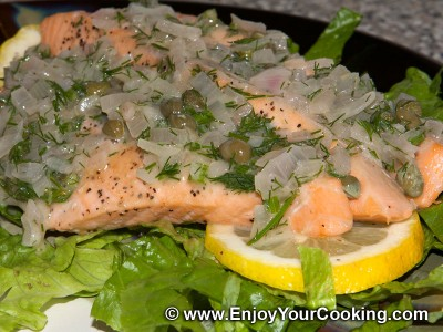 Salmon under Capers and Dill Sauce Recipe: Step 17