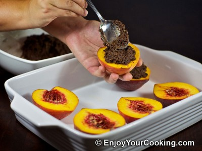 Baked Peaches with Chocolate and Ginger Stuffing Recipe: Step 10