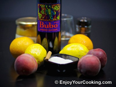 Red Wine Sangria with Peaches, Oranges and Lemons Recipe: Step 1