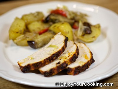 Turkey Breast Roast with Garlic, Paprika and Black Pepper  Recipe: Step 10