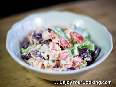 Crab Sticks, Beans, Tomato, Bell Pepper and Cheese Salad Recipe: Step 10