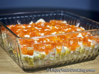 Shrimp, Egg and Potato Layered Salad Recipe: Step 17