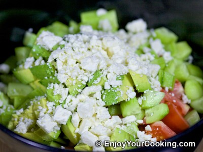Raw Vegetable Salad with Feta Recipe: Step 6