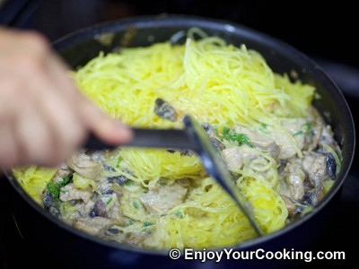 Spaghetti Squash with Chicken and Mushrooms Recipe: Step 14