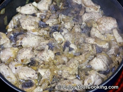 Spaghetti Squash with Chicken and Mushrooms Recipe: Step 9