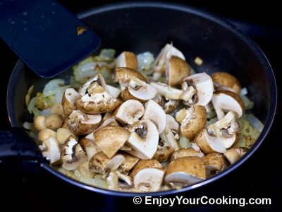 Mushrooms and Peas: Step 4